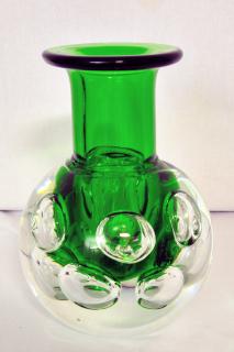 Svoboda geschliffene Vase klar grün